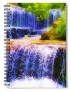 Double Waterfall Spiral Notebook