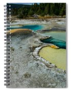 Doublet Pool Hot Spring In Yellowstone Spiral Notebook