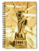 Dove Feathers And American Landmarks Spiral Notebook