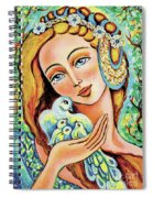 Dove Forest Fairy Spiral Notebook