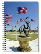 Doves And Flags Spiral Notebook