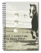 Down And Back Quote Spiral Notebook