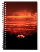 Down For The Count Sunset Art Spiral Notebook