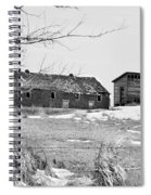 Down On The Farm Bw Spiral Notebook