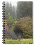 Down Pour At Boulder Cave Spiral Notebook