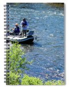 Down River Fly Fishing Spiral Notebook