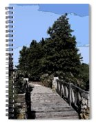 Down The Bridge Spiral Notebook