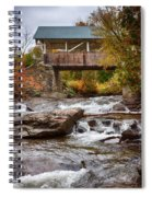 Down The Road To Greenbanks's Hollow Covered Bridge Spiral Notebook
