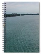 Downbound At Belle Isle Spiral Notebook