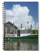Downeast Style Yacht Docked On Shem Creek In Charleston Spiral Notebook