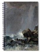 Downpour At Etretat  Spiral Notebook