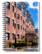 Downtown Burlington Vermont Watercolor Spiral Notebook
