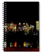 Downtown Calgary At Night Spiral Notebook