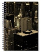 Downtown Chicago At Sunset Spiral Notebook