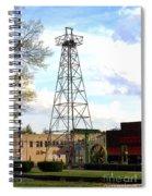Downtown Gladewater Oil Derrick Spiral Notebook