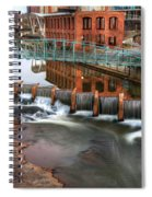 Downtown Greenville On The River Winter Spiral Notebook