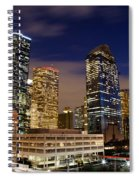 Downtown Houston At Night Spiral Notebook