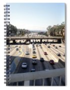 Downtown Los Angeles. 110 Freeway And Wilshire Bl Spiral Notebook