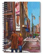Downtown Montreal Streetscene At La Senza Spiral Notebook