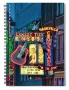 Downtown Nashville At Dusk Spiral Notebook