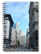 Downtown San Francisco Street Level Spiral Notebook