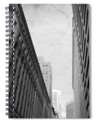 Downtown San Francisco Street View - Black And White 2 Spiral Notebook