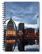 Downtown St. Louis At Dawn Spiral Notebook