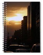 Downtown Sunset From Parking Lot Spiral Notebook