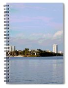 Downtown Tampa With Cruise Ship Spiral Notebook