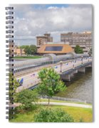 Downtown Waterloo Iowa  Spiral Notebook