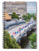 Downtown Waterloo Iowa Bridge Spiral Notebook