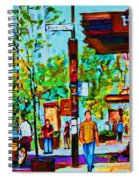 Downtowns Popping Spiral Notebook