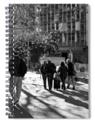 Downtownscape - Black And White Spiral Notebook