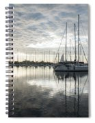 Downy Soft Clouds At The Marina Spiral Notebook