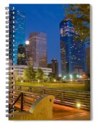 Dowtown Houston By Night Spiral Notebook