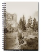 Domes And Royal Arches From Merced River Yosemite Valley Calif. Circa 1890 Spiral Notebook
