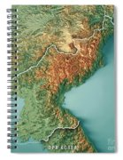 Dpr Korea 3d Render Topographic Map Border Spiral Notebook