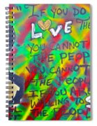 Dr. Cornel West  Love The People Spiral Notebook
