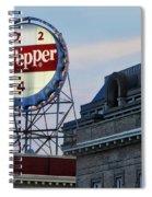 Dr Pepper Sign Spiral Notebook