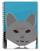 Dracula Cat Spiral Notebook