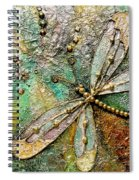 Dragon Fly  -mixed Media Spiral Notebook