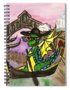 Dragon New Year Comes To Venice Spiral Notebook