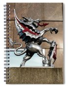 Dragon With Red Cross Spiral Notebook