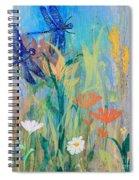 Dragonflies In Wild Garden Spiral Notebook