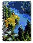 Dragonflight Over The Spokane River Spiral Notebook