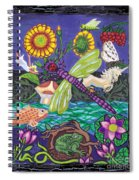 Dragonfly And Unicorn Spiral Notebook