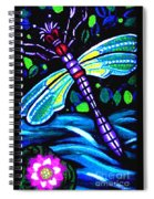 Dragonfly And Water Lily Spiral Notebook