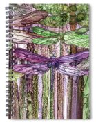 Dragonfly Bloomies 3 - Pink Spiral Notebook