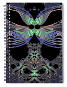 Dragonfly Queen At Midnight Fractal 161 Spiral Notebook