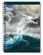 Dragon's Soul Surfer Spiral Notebook